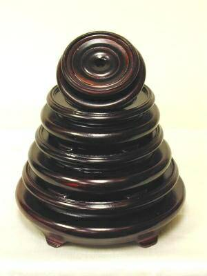 H266 3 Wood Lotus And Oriental Lamp Bases
